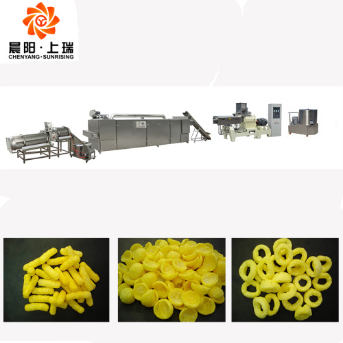 Twin screw baked snack pellet food machine line