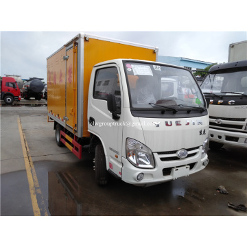 YUEJIN 4x2 Cargo dry van truck for sale