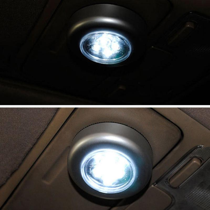 New 4LED Light Battery Powered Tap Push Stick Touch Night Emergency Car Lamp Decorative Lamp Auto Product Car Accessories