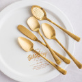 Food Grade Eco Friendly Gold Ice Cream Spoon