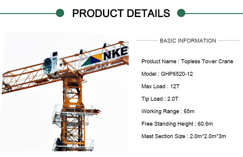 12 Ton Tower Crane