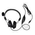 High quality USB 3.5mm over headphone headset