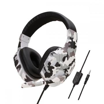 Gaming Headset Earphone Wired Gamer Headphone Stereo Sound Headsets with Mic LED light for Computer PC Gamer