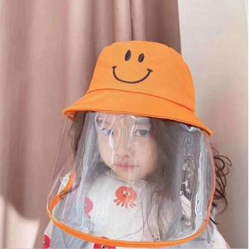 Kid faceshield masks medical protective bucket hat