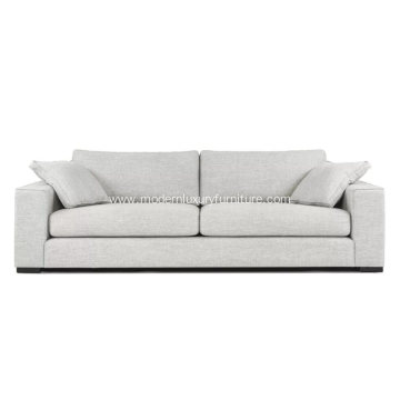 Modern Contemporary Sitka Mist Gray Fabric Sofa