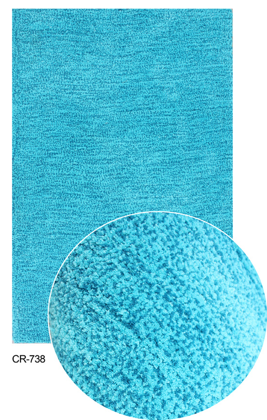 Microfiber with short pile carpet
