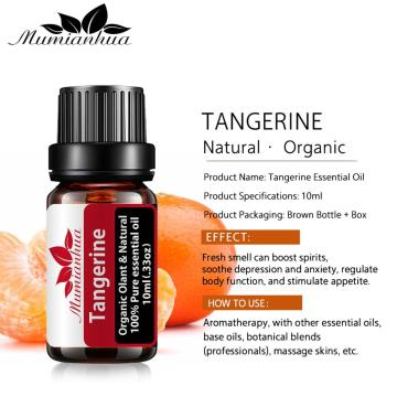 Tangerine Essential Oil Pure Natural 10ML Pure Essential Oils Aromatherapy Diffusers Oil Healthy immune Air Fresh Care