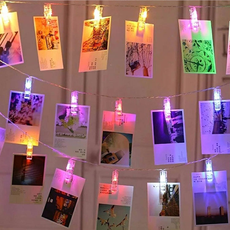 led photo clips remote control