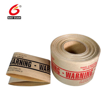 Water Activated Reinforced Kraft Paper Strong Adhesive Gummed  Tape