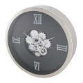 Black Wall Clocks with Moving Gears