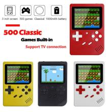 """500 In 1 Games Mini Handheld Game Player Retro Video Console 8 Bit 3.0"""" Color LCD Screen TV Console"""