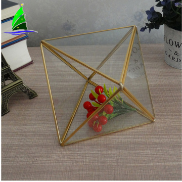 geometric glass Vase plant terrarium for succulent deco