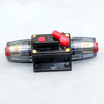 30A Car Audio parts Inline Circuit Breaker Fuse for 12V Protection
