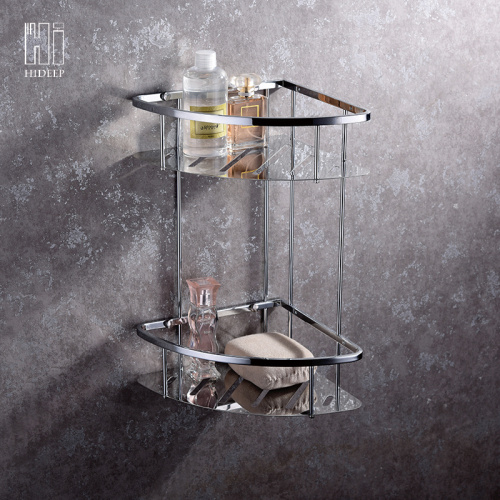 HIDEEP Pure Brass Chrome Double-layer Shower Rack