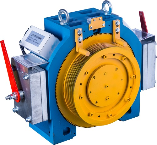 Light and Small Gearless Traction Machine