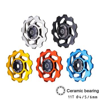 ZTTO Bicycle Derailleur Bicycle Rear Derailleur Jockey Wheel Ceramic Bearing Pulley Road Bike Guide Roller Idler