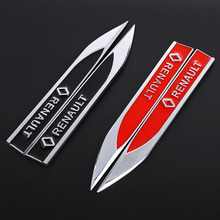 1 Pair Metal Car Stickers Emblem Trunk Badge Auto Waist Line Decals for Renault Grand Scenic Modus Megane RS Car Auto Styling