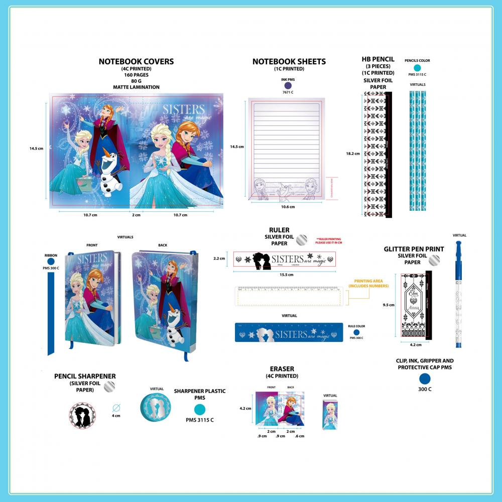 Disney Frozen Eight Pack Diary Set