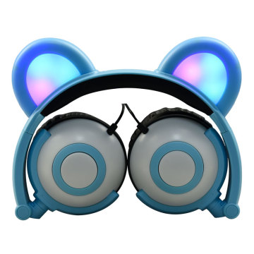 Barn Barn Cartoon LED Light Ear Shaped Headsets
