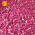 newest design beautiful polish magenta jacquard lace fabric