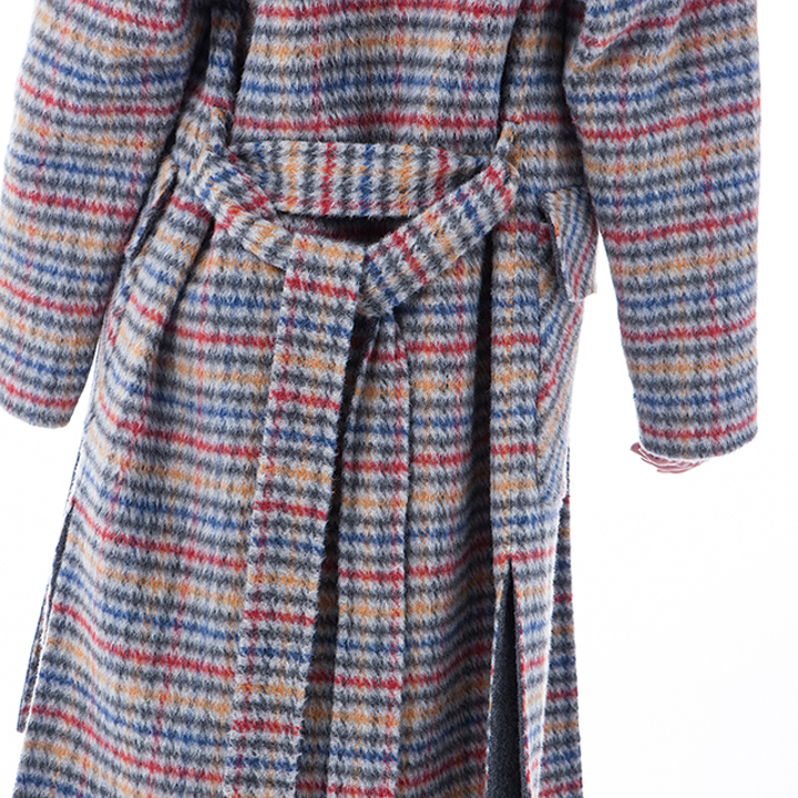 Vogue Plaid cashmere winter coat back