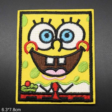 Cartoon Yellow Iron On Embroidery Patches Clothes
