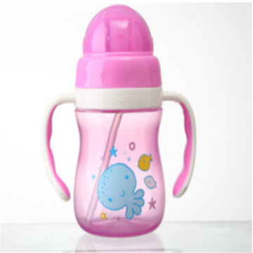 Kids Water Drinking Bottle Baby Straw Cup