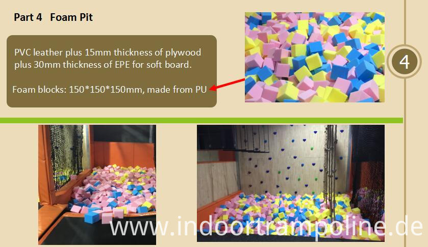 Foam pit of trampoline park franchise