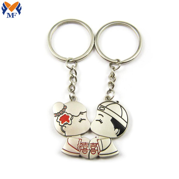 Gift Metal Custom Wedding Couples Keychain