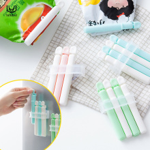 luluhut 4pcs/lot bag clips household food storage bag sealer kitchen food fresh keeping food clip sealing clips with suction cup