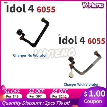 Wyieno Charging Port Board For Alcatel Idol 4 OT6055 6055 Micro USB Charger Plug Connector Flex Cable FPC Vibrator Motor