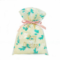 Beige Plastic Bags For Packaging Christmas Gift