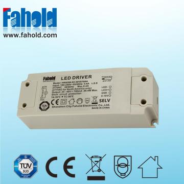Driver LED dimmerabile da 0W a 45 W per downlight