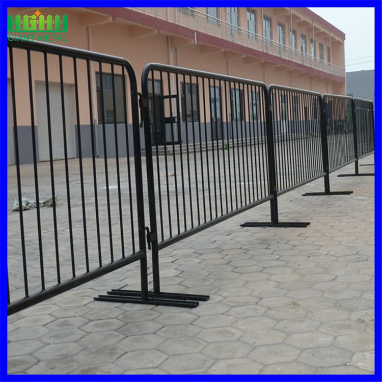 removable road crowd control barricades