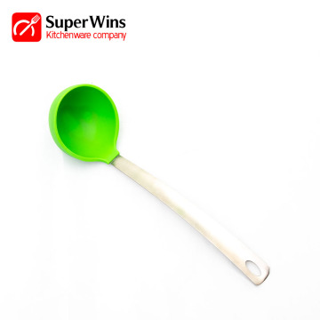 Durable Kitchen Silicone Long Handle Ladle