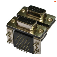 D-SUB PCB Dual Port Right Angle type