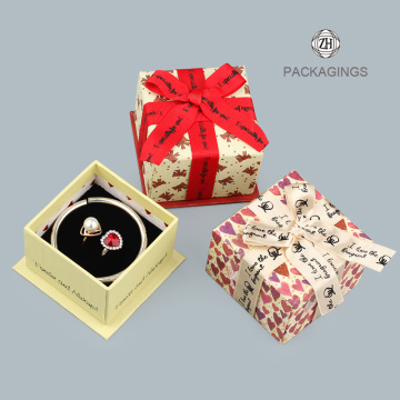 Fashion jewelry box white jewelry ring box