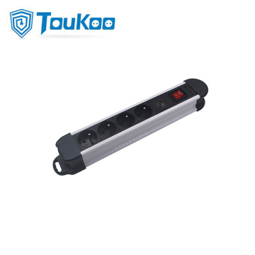 Surge protected French 4 way power strip