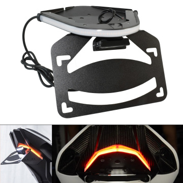 LED Light Integrated Taillight Turn Signals Tail Tidy Fender Eliminator License Plate Bracket Kit For BMW S1000RR 2019 2020 2021