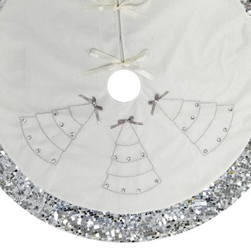 Mermaid theme christmas holiday tree skirt