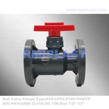 PVC Ball Valve Flanged BS4504