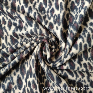 Cheetah Printed Brushed Polar Fleece Fabric