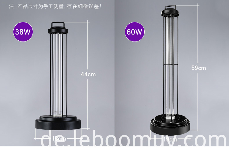 UV air table lamp