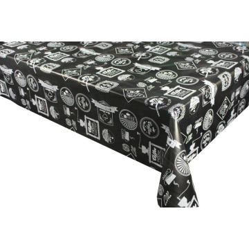 Pvc Printed fitted table covers and 6 Placemats