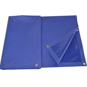 Blue plastic PVC tarps for advertisement