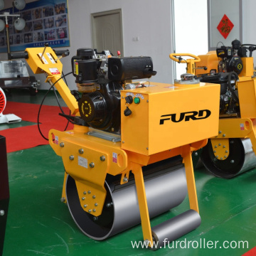 Road construction machinery walk behind double smooth drum roller FYL-600C