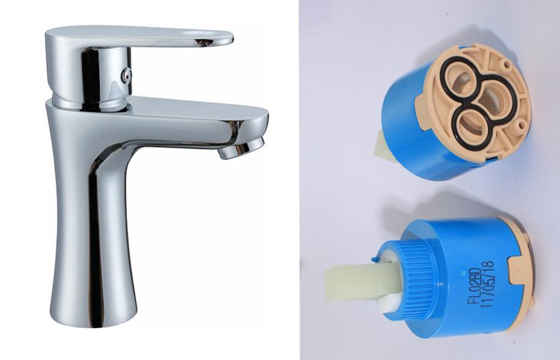 basin mixer with ceramic cartridge