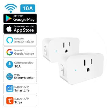 US Standard WiFi Smart Socket Power Plug Outlet Remote Control Energy Monitor Work With Amazon Home Compatible With Alexa/Google