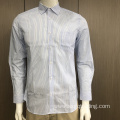 Male yarn dyed stripe shirt