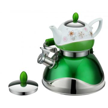 Green Double Tea Pot